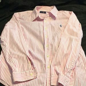 Ralph Lauren Pink and white button down